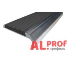 Алюминиевый порог 40х0-12 мм с открытым типом, 1.70 м