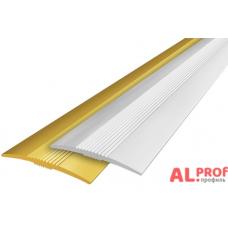 Алюминиевый порог 38х3 мм с открытым типом