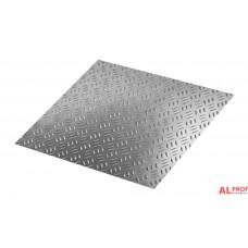 Лист рифленый (квинтет) алюминиевый 2x1200x3000